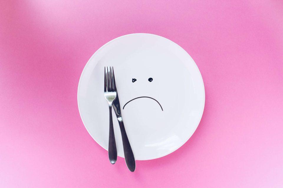 A sad plate